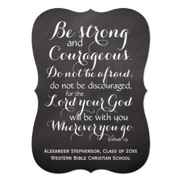 Christian Bible Scripture Verse Custom Graduation Card