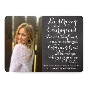 Christian Bible Verse Custom Photo Graduation Invitation