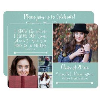 Christian Bible Verse Graduation Photo Collage