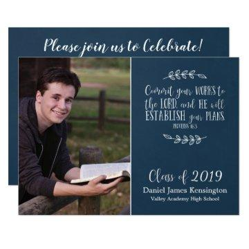 Christian Bible Verse Typography Graduation Photo