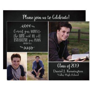 Christian Graduation Bible Verse 3 Photo Collage