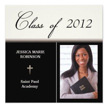 Christian Parochial School Photo Graduation Card