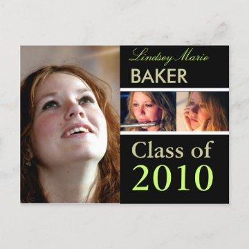 Class of 2011 Graduation Invitation Postcards