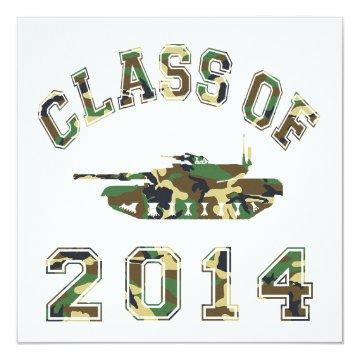 Class Of 2014 Military School Camo 2 Card