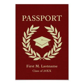 class of 2015 graduation passport invitation