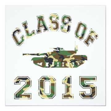 Class Of 2015 Military School - Camo 2 Card