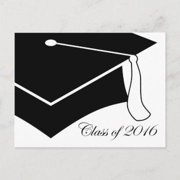 class of 2016 graduation cap invitation postcard