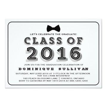 Class of 2016 | Retro Typography Graduation Card