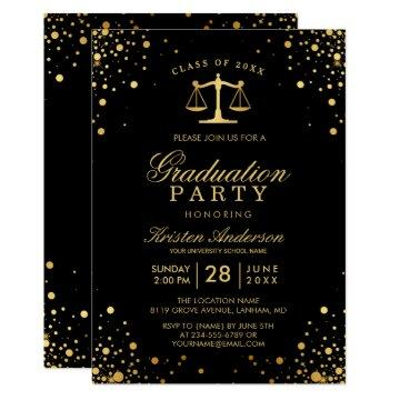 class of 2017 law school graduate graduation party card - Law School Graduation Invitations