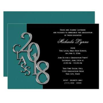Class of 2018 Grad Silver with Color Option Card