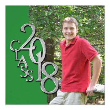 Class of 2018 Graduation Photo in Green