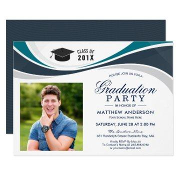 Class of 2019 Graduate Photo Graduation Party Invitation