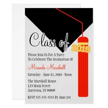 Class Of 2019 Tassel Graduation Invite (Red)