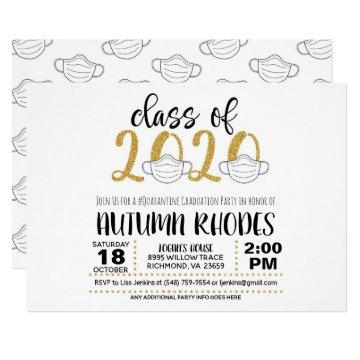 Class of 2020 Graduation Invitation - Face Mask GG