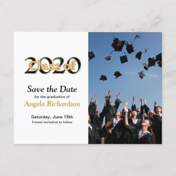 Class of 2020 Graduation Save the Date Photo Invitation Postcard