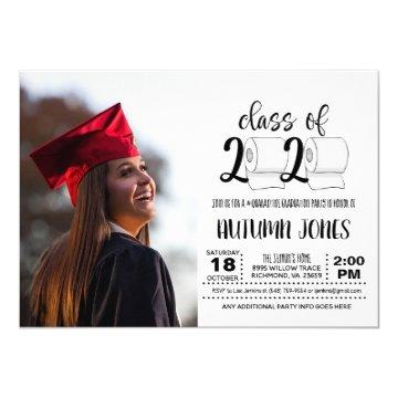 Class of 2020 Toilet Paper with Photo Invitation