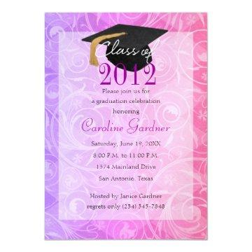 Class of 20XX Graduation Pink and Purple