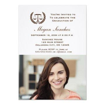 Classic Law School Graduation Invitation