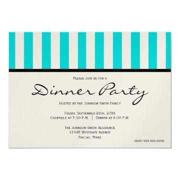 Classy Blue Striped Party