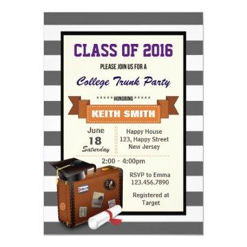 college trunk party graduation invitations – graduation invitations, Party invitations