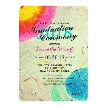 Colorful Artistic Watercolor Painted Daubs Card