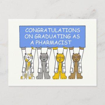 Congratulations on Graduating as a Pharmacist. Announcement Postcard