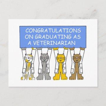 Congratulations on Graduating as a Veterinarian. Announcement Postcard