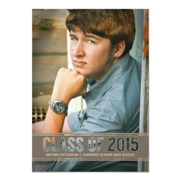 Contemporary Class of 2015 Photo Graduation Party Card