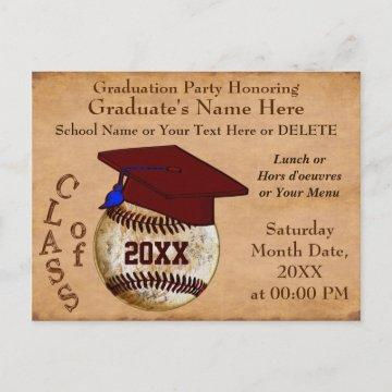 Cool Personalized Baseball Graduation