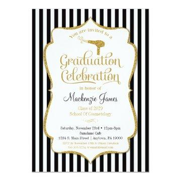 Cosmetology Graduation Party Invitation Beauty