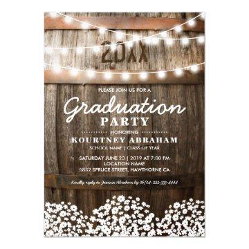 Country Rustic Graduation Party | Class of 2017 Card