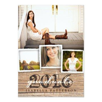 Country Rustic Wood Graduation 2016