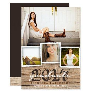 Country Rustic Wood Graduation 2017