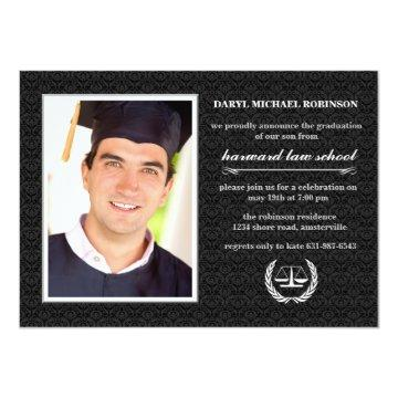 Court Symbol Photo Law School Graduation Invite