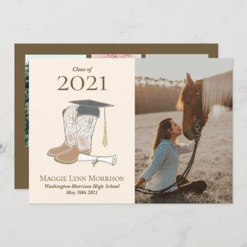 Cowgirl Country Photo Graduation Announcement