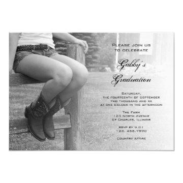 Cowgirl on Fence Barn Party Graduation