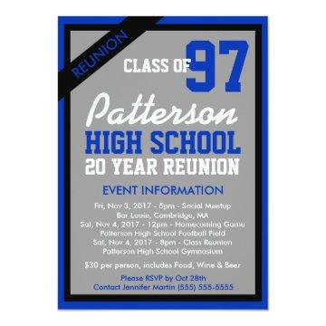 Create Your Own Class Reunion Invitation