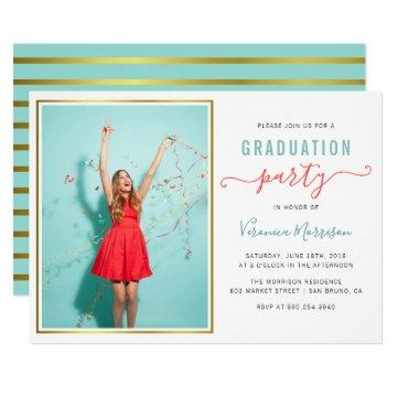 Create Your Own Custom Photo Grad Party Invitation