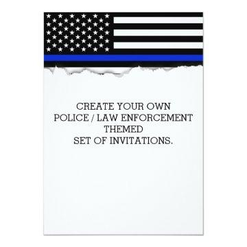 Create Your Own Police Flag Torn Out Look Custom Card
