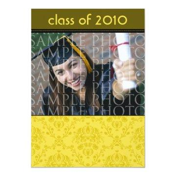 CUSTOM Baroque 5x7 Graduation  (gold)