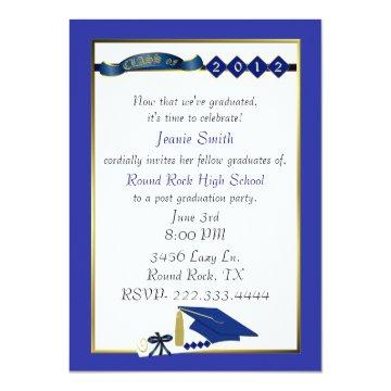 Custom Blue Graduation Party