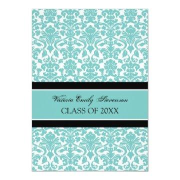 Custom Graduation Party  Card Teal