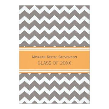 Custom Graduation Party  Orange Chevron