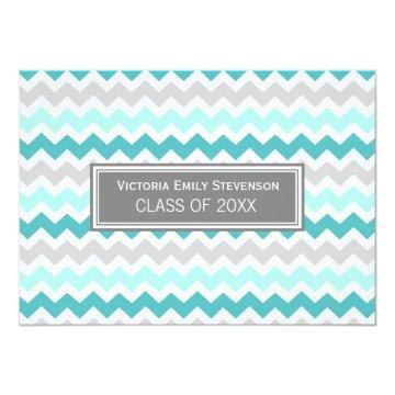 Custom Graduation Party  Teal Chevron