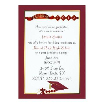 Custom Red Graduation Party