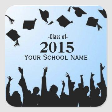 Custom School and Year Graduation Stickers