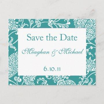 Customizable Paisley Save the Date Announcement Postcard