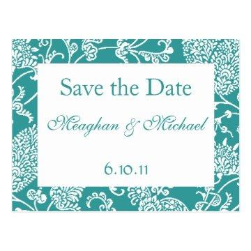 Customizable Paisley Save the Date Postcard