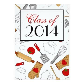 Cute Culinary School Graduation Invite