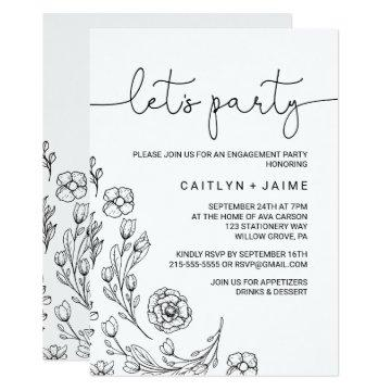 Dainty Elegance Let's Party Card